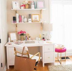 desk, gold, organization, room, room decor, tumblr, tumblr room