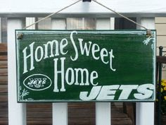 Jets NFL Football sign Home Sweet Home Jets by TeesTransformations, $18.00