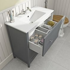 The Bath Co. Camberley grey vanity unit with basin 800mm