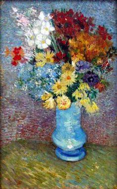 Van Gogh - Flowers in a blue vase