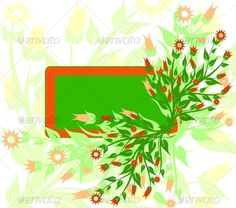 VECTOR DOWNLOAD (.ai, .psd) :: http://hardcast.de/pinterest-itmid-1000066268i.html ...  floral background ...  clean, floral, flower, foliage, frame, green, illustration, leaf, nature, orange, spring, vector  ... Vectors Graphics Design Illustration Isolated Vector Templates Textures Stock Business Realistic eCommerce Wordpress Infographics Element Print Webdesign ... DOWNLOAD :: http://hardcast.de/pinterest-itmid-1000066268i.html