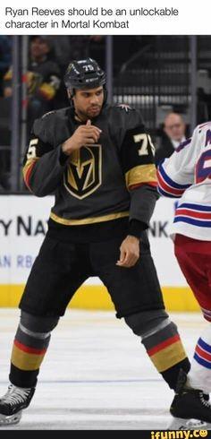 Ryan Reeves should be an unlockable character in Mortal Kombat - iFunny :) Hockey Goalie, Hockey Mom, Hockey Teams, Hockey Players, Ice Hockey, Hockey Stuff, Hockey Girls, Golden Knights Hockey, Vegas Golden Knights