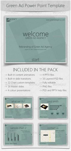 Green Ad Agency Power Point Template