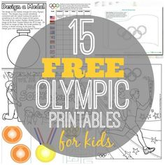 Get your kids in the Olympic spirit while having fun and learning about the Olympics! 15 Free Olympic Printables for Kids