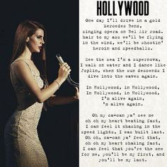 """The glamorous and green-old, part of Hollywood"" #lanadelrey #Hollywood"