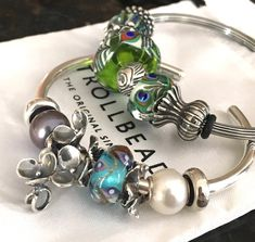 TB Spring 2018 beads on a Trollbeads bangle by a Trollbeads Gallery Forum member!
