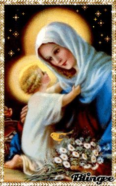 Blessed Mother Mary and Baby Jesus ♡ Religious Pictures, Religious Icons, Religious Art, Blessed Mother Mary, Blessed Virgin Mary, Miséricorde Divine, Vintage Holy Cards, Queen Of Heaven, Mama Mary
