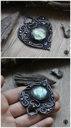 Eartha Creations handmade jewelry. Fantasy & unique design and stones! #jewelry #handmade #unique #fantasy #celtic #viking #moon  #labradorite #spiritual #spirit #ooak #heart #blue #boho