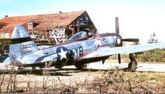 507th Fighter Squadron - Republic P-47D-27-RE Thunderbolt 42-27234 parked at Fritzlar Airfield (Y-86), Germany, April 1945
