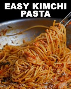 Best Pasta Recipes, Chicken Salad Recipes, Cooking Recipes, Spicy Miso Ramen Recipe, Spicy Kimchi Recipe, Beef Bulgogi Recipe, Kimchi Noodles, Seonkyoung Longest, Gourmet