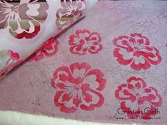 Making faux batik fa