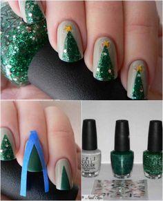 Easy but joyful christmas nails art ideas you will totally love 37
