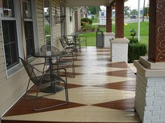 harlequin pattern - painted porch floor