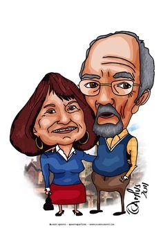 Histórias da Sandra Fotos: O dificil e o divertido de uma Caricatura ... Ricardo Campus