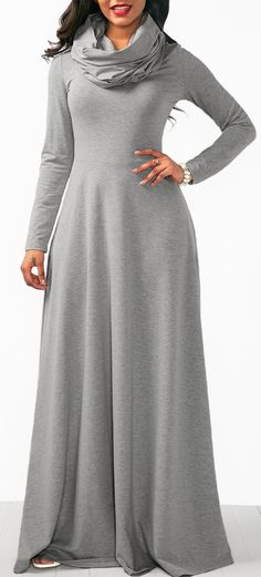 online shopping for Fandicto Womens Long Dresses Cowl Neck Maxi Dress Long Sleeve Plain Casual Dresses from top store. See new offer for Fandicto Womens Long Dresses Cowl Neck Maxi Dress Long Sleeve Plain Casual Dresses Modest Fashion, Women's Fashion Dresses, Sexy Dresses, Casual Dresses, Cheap Dresses, Fashion Clothes, Style Fashion, Fashion Women, Long Sleeve Tunic Dress