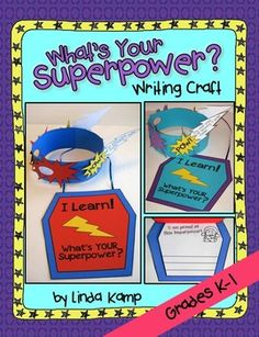 end of the year activities: superhero theme: beginning of the year Perfect for back to school or end of year, this Kindergarten and First Grade superhero writing craft with mask and shield necklace booklet has students highlight goals or accomplishments they are most proud of then describe how they developed their