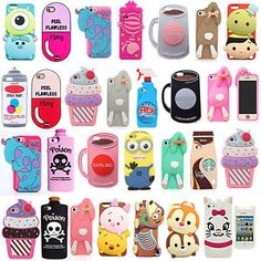3D Cartoon Soft Silicone Rubber Back Case Cover For Samsung & LG G4 Stylus LS770