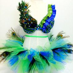 Peacock dance costume edc / tomorrowworld / ultra / rave / halloween by RolitaCouture on Etsy https://www.etsy.com/listing/184415831/peacock-dance-costume-edc-tomorrowworld