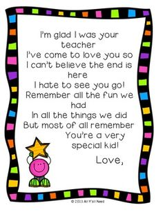 Preschool Graduation Discover End of Year for Students End of Year for Letter to Students from Teacher ( freebie ) Teacher Poems, Student Teacher Gifts, Letter To Teacher, Teacher Freebies, Parent Letters, Teacher Message, Letter To Students, Quotes For Students, Kindergarten Graduation