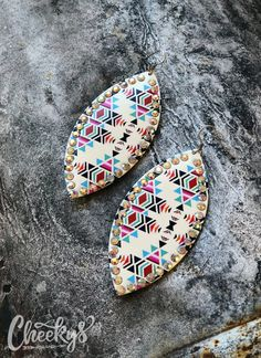 Cheekys Brand ~ The Shania Aztec Earrings! These earrings are approximately 4 inches long. Thank you for shopping Cheekys! Aztec Earrings, Fringe Earrings, Unusual Gifts For Her, Real Country Girls, Western Jewelry, Bangle Set, Silver Bangles, Earring Set, Jewelry Making