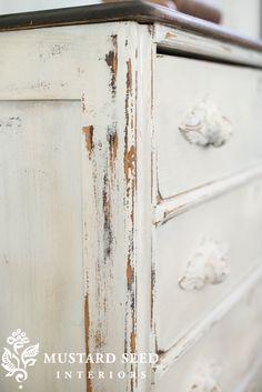 1800's Linen Dresser - Miss Mustard Seed's Milk Paint