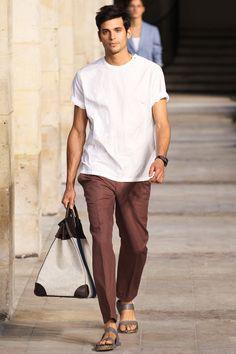 Hermès Homme Printemps Eté 2014 - Haut à courroies Flag 50