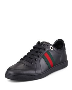 Coda+Low-Cut+Sneaker,+Black++by+Gucci+at+Neiman+Marcus.