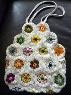 Just finished my african flower bag! :)