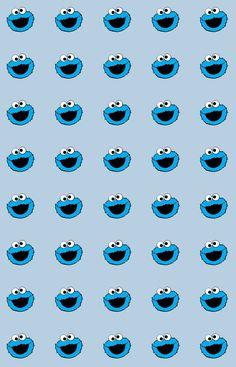Cookies monster Cookie monster wallpaper Elmo wallpaper Cute pastel wallpaper