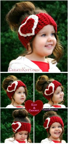 Little Girl's Valentine Head Warmer