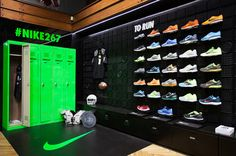 Nike store on 267 chapel street in melbourne - opening party event recap - Nike Store, Visual Merchandising, Retail Stories, Zapatillas Jordan Retro, Sneaker Storage, Bg Design, Signage Design, Shoe Display, Retail Store Design