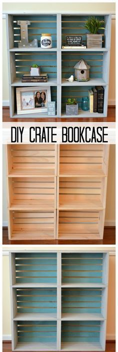 DIY Crate Bookcase.
