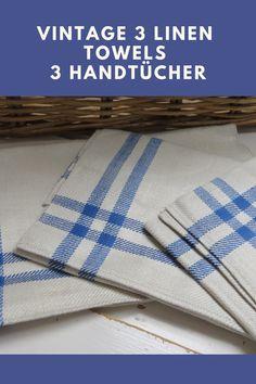 15 schönes altes Leinen Geschirrtuch Handtuch Tischläufer Art Deco