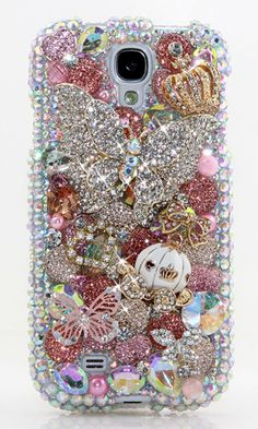 Dazzlin' Butterfly Design Bling case for Samsung Galaxy S4. We design luxury 3D crystal bling case for any phone/device. http://luxaddiction.com/collections/3d-designs/products/dazzlin-butterfly-design-style-487