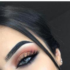 Make-up Bronze Smokey Copper Ideen für 2019 - Prom Makeup Looks Makeup Eye Looks, Cute Makeup, Gorgeous Makeup, Pretty Makeup, Skin Makeup, Makeup Eyeshadow, Beauty Makeup, Hair Beauty, Glitter Eyeshadow