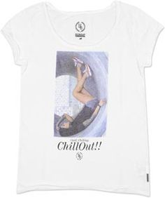 Boom Bap Chill V-Neck W T-Shirt weiß