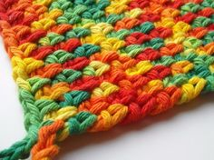 Crocheted Cotton Potholder Mexicali Only Two by CrochetMaggie