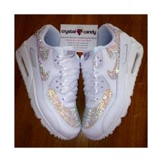 5d6b99100d2e Nike Air Max 90 Candy Crystal All White Shoes Cute Nike Shoes