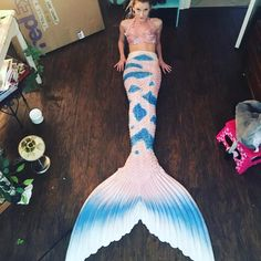 Mermaid in White Blue Silicone Mermaid Tail Fake Mermaid Tails, Realistic Mermaid Tails, Silicone Mermaid Tails, Fin Fun Mermaid, Mermaid Tails For Kids, Mermaid Tale, Fantasy Mermaids, Mermaids And Mermen, Real Life Mermaids