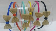 Gold Metal Mesh Bow Color Headband variety of colors