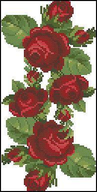Cross stitch free embroidery set 5 – Cross stitch machine embroidery – Machine e… – Handstickerei Cross Stitching, Cross Stitch Embroidery, Hand Embroidery, Machine Embroidery, Cross Stitch Rose, Cross Stitch Flowers, Cross Stitch Designs, Cross Stitch Patterns, Flower Embroidery Designs