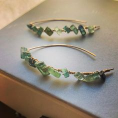Tourmaline crystal threader earrings on gold filled wire. Seriously inspired by my Tucson Gem Show loot. Tucson Gem Show, Tourmaline Jewelry, Arrow Necklace, Jewlery, Wire, Gems, Inspired, Crystals, Decoration