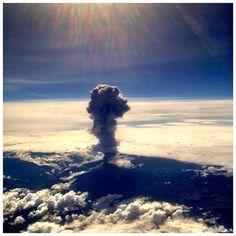 Ecuador: Tungurahua volcano eruption as seen from a plane. By Eddie Avila