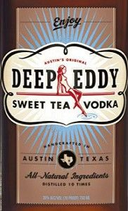 Deep Eddy Vodka Sweet Tea... Mix with a little lemonade = summer