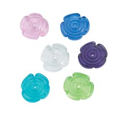 Glass Flower Beads - 10mm - OrientalTrading.com