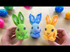 How to make a cute Bunny using paper and a towel 🐇 How to make cheap Easter Decorations - Osterdeko selber machen: Osterhasen basteln mit Papier & Handtuch. Cute Crafts, Diy And Crafts, Crafts For Kids, Towel Origami, Towel Animals, Diy Easter Decorations, Paper Plate Crafts, Cute Bunny, Baby Knitting Patterns