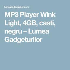 MP3 Player Wink Light, 4GB, casti, negru – Lumea Gadgeturilor
