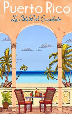 United States Caribbean Puerto Rico America Travel Advertisement Art Poster