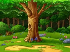 "Photo from album ""Детские фоны"" on Yandex. Scenery Background, Cartoon Background, Cartoon Pics, Cartoon Art, Nature Pictures, Colorful Pictures, Orla Infantil, Forest Mural, Kids Room Murals"