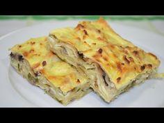 Baked pita with cheese and mushrooms_Запеканка из лаваша с сыром и грибами